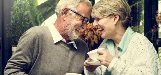 Elder Couple Laughing